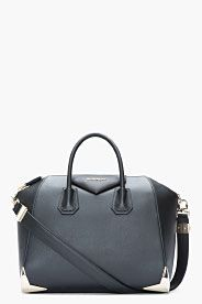 45c1e61213 GIVENCHY Medium Matte Black Leather Metal-Corner Duffle Bag | Hand ...