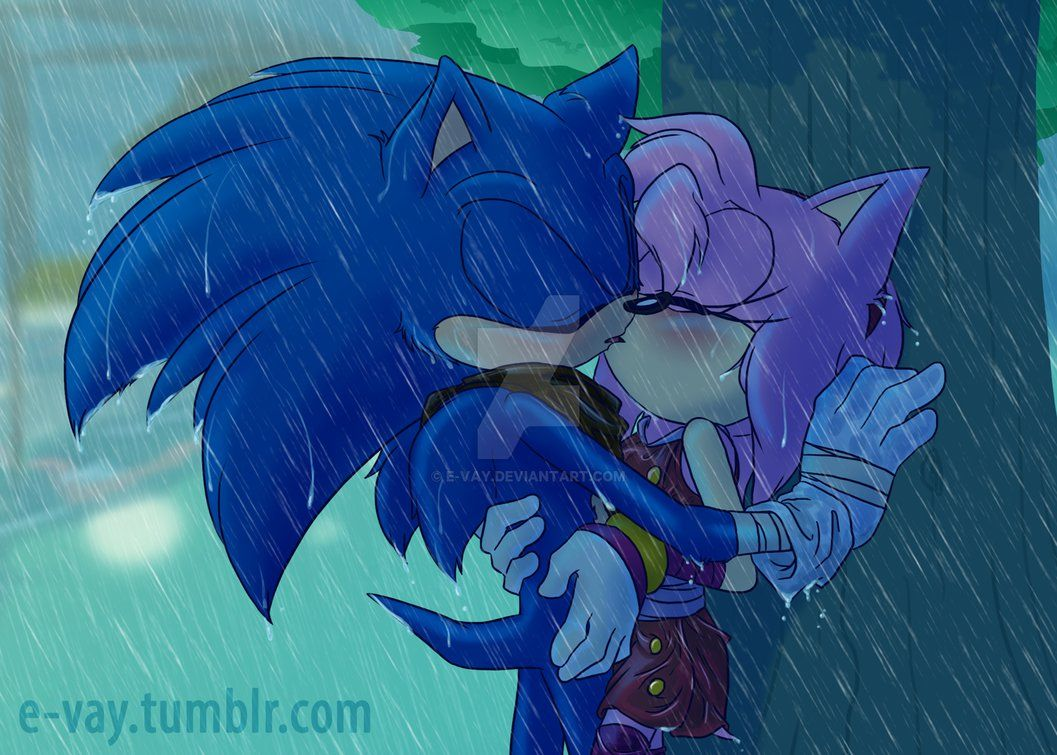 Amy Kisses Sonic Sonic Amy Stop It This Isn T A Kissing Booth