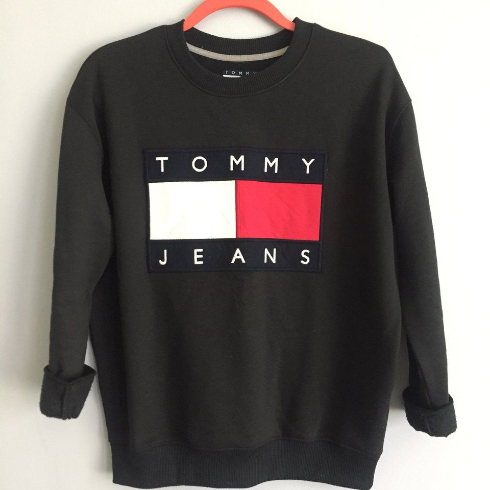 e970ccb66 Tommy Jeans Crewneck Noodie from Urban Outfitters Tommy Hilfiger  Collection. Marked unisex size XS, but could fit XS- M depending on desired  fit.
