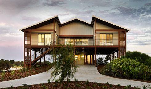 Rural Building Company Beach House Design House On Stilts Facade House
