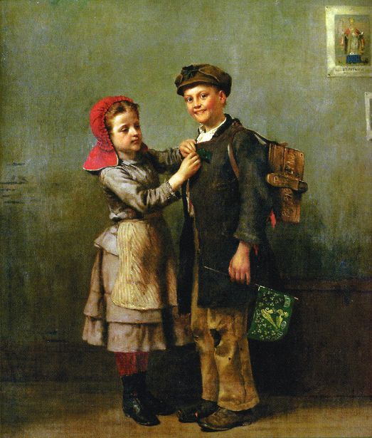 Saint Patrick's Day -- John George Brown (1831 – 1913, English-born American)