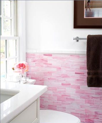 Love That Pink Stone Tile Interiors Subway Tile Teen