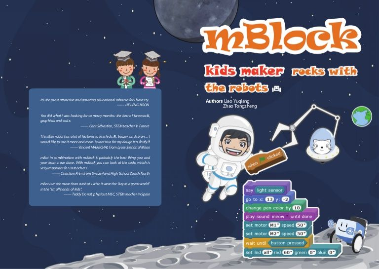 This is free curriculum for the mBLock code used by Mbots