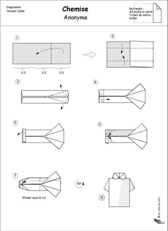 Оригами рубашка картинки