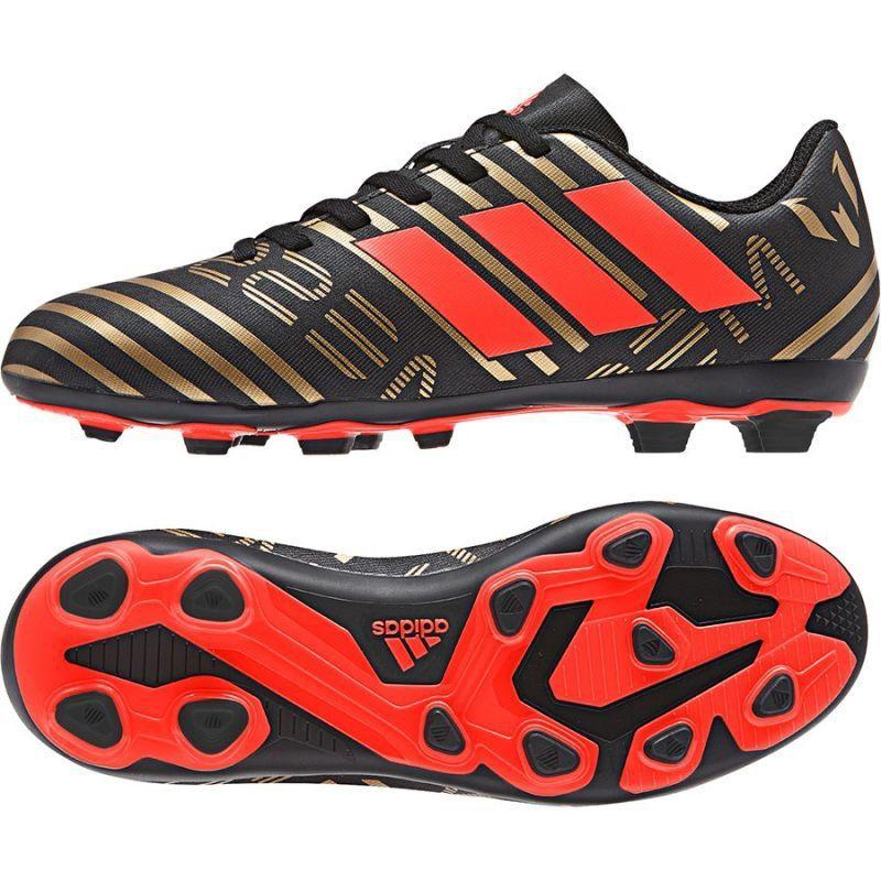 Buty Pilkarskie Adidas Nemeziz Messi 17 4 Fg Jr Cp9210 Wielokolorowe Czarne Football Boots Adidas Messi