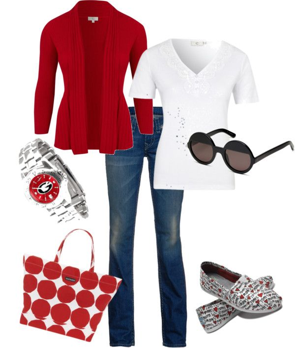 GA Bulldog Game Day, created by asc647 on Polyvore