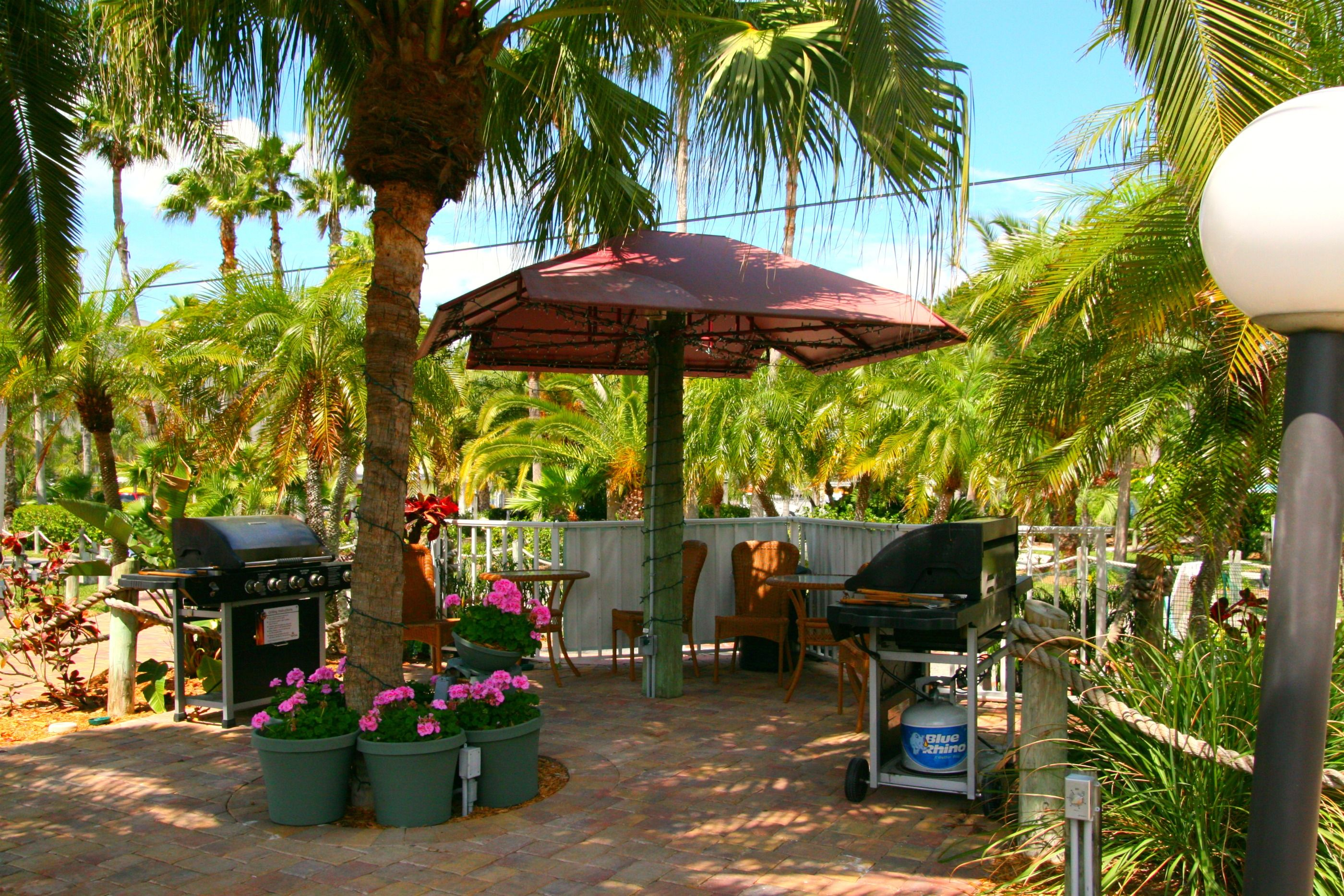 Tropical Gardens and BBQ Tiki Huts | Soriano Family Reunion ...