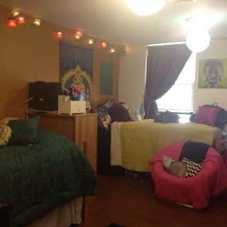 Colorful Zen Inspired College Dorm Room