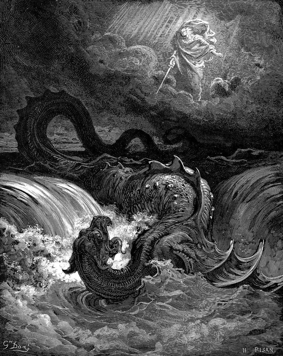 Destrucción del Leviatan por Gustav Doré | Gustave dore, Leviatan, Criaturas mitológicas