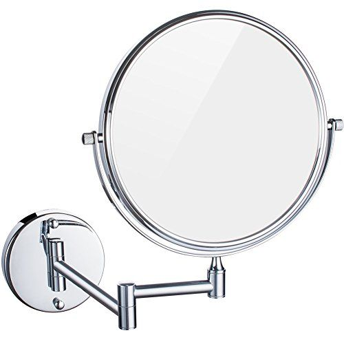 Dowry 10x Magnification Wall Mount Makeup Mirror 8 Inch Doublesided Swivel 12 Inch Extension Polished Chrome Finishedm1309 8