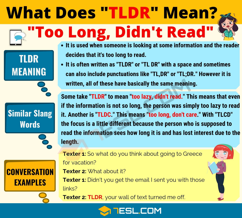 Tldr Meaning What Does Tldr Mean Useful Text Conversations