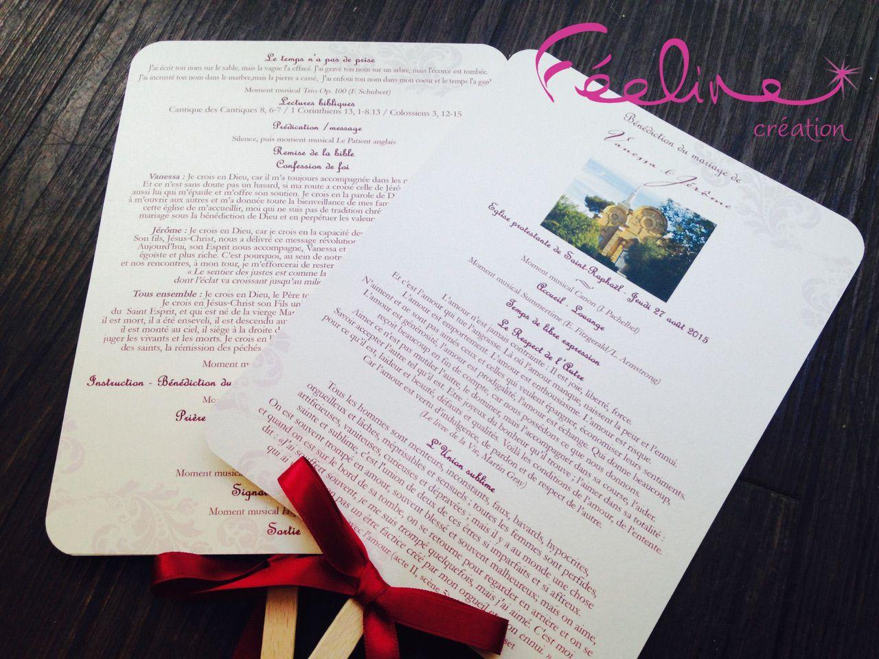 Livret de cérémonie éventail By Féeline création Mariage baptªme