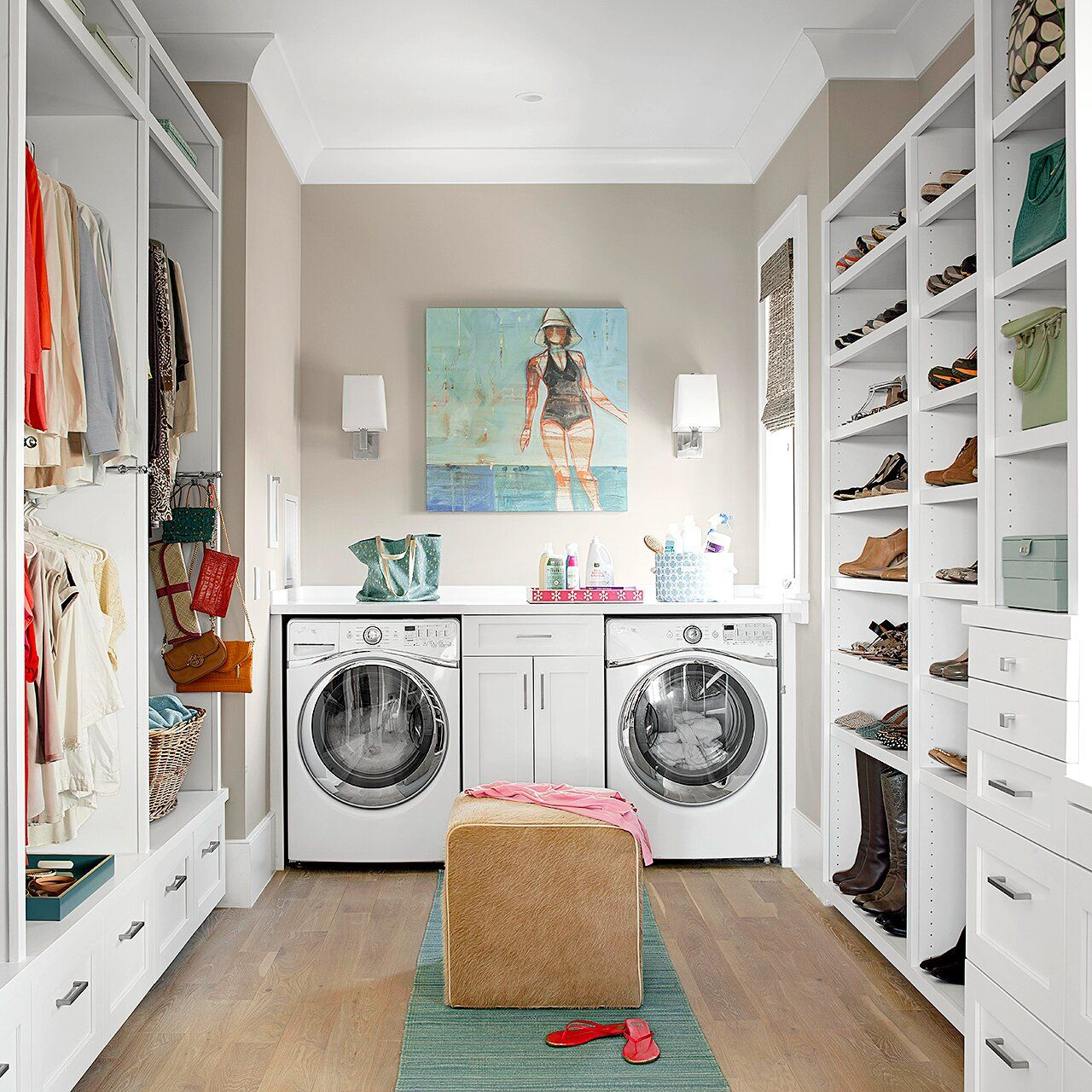 31 Organizing Tips To Steal For Your Closet In 2020 Laundry Room Closet Room Closet Master Bedroom Closet