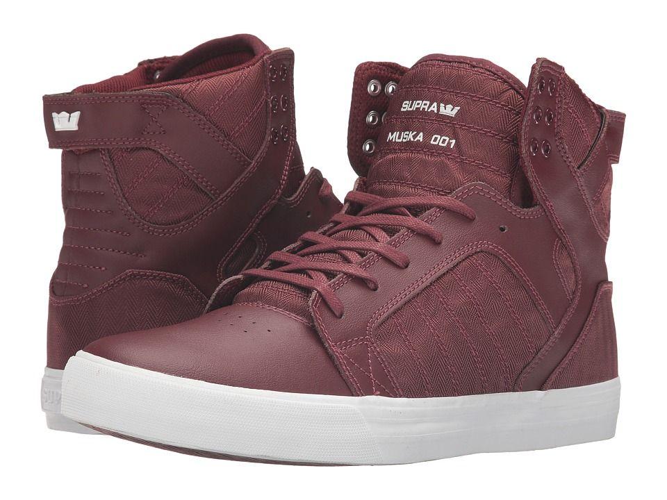 f98fb13b4196 SUPRA SUPRA - SKYTOP (BURGUNDY LEATHER HERRINGBONE NYLON) MEN S SKATE  SHOES.  supra  shoes