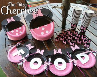 Minnie Mouse Plates (12 Minnie Mouse Polka dot plates) & Minnie Mouse Plates (12 Minnie Mouse Polka dot plates) | ideas ...