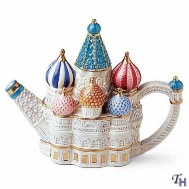 Fitz and Floyd Around The World St Basils Cathedral Miniature Teapot #teapots