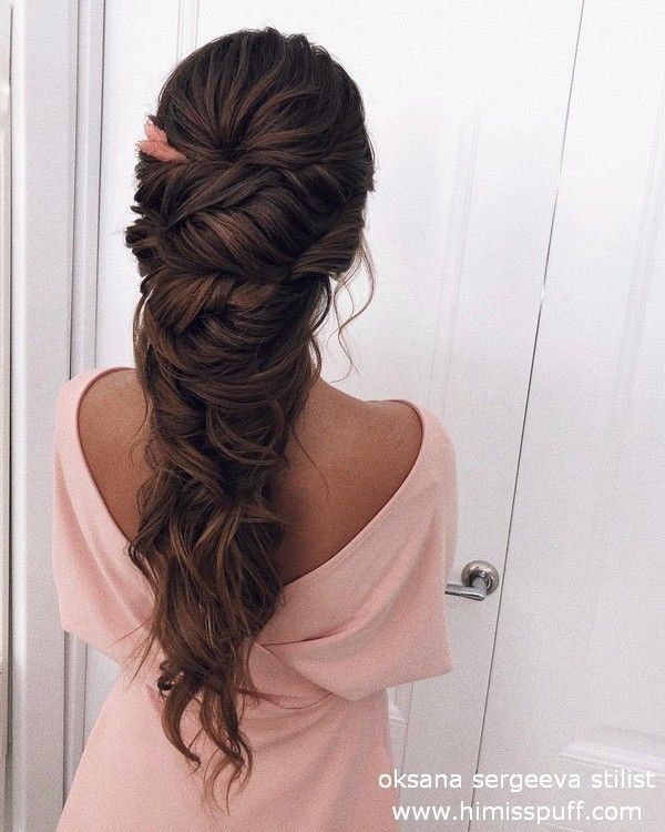 Long Wedding Hairstyles and Updos from oksana sergeeva stilist #cabelos