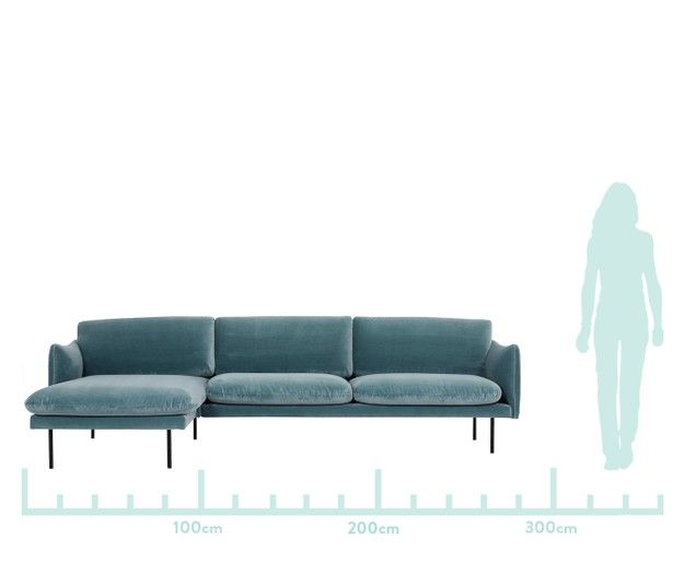 Divano Con Chaise Longue In Velluto Moby Sofa Furniture Couch