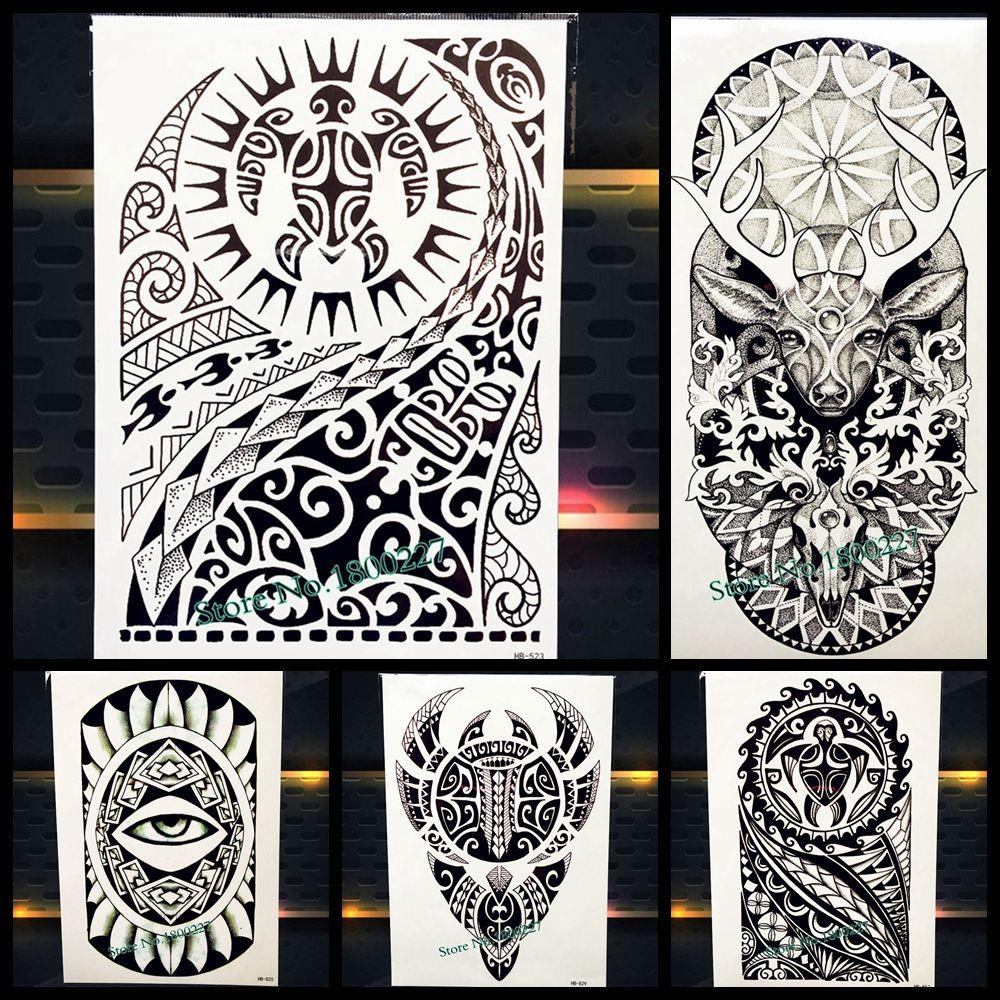 Duże Sztuki Ciała Arm Rękawy Tatuaż Tymczasowy Tatuaż