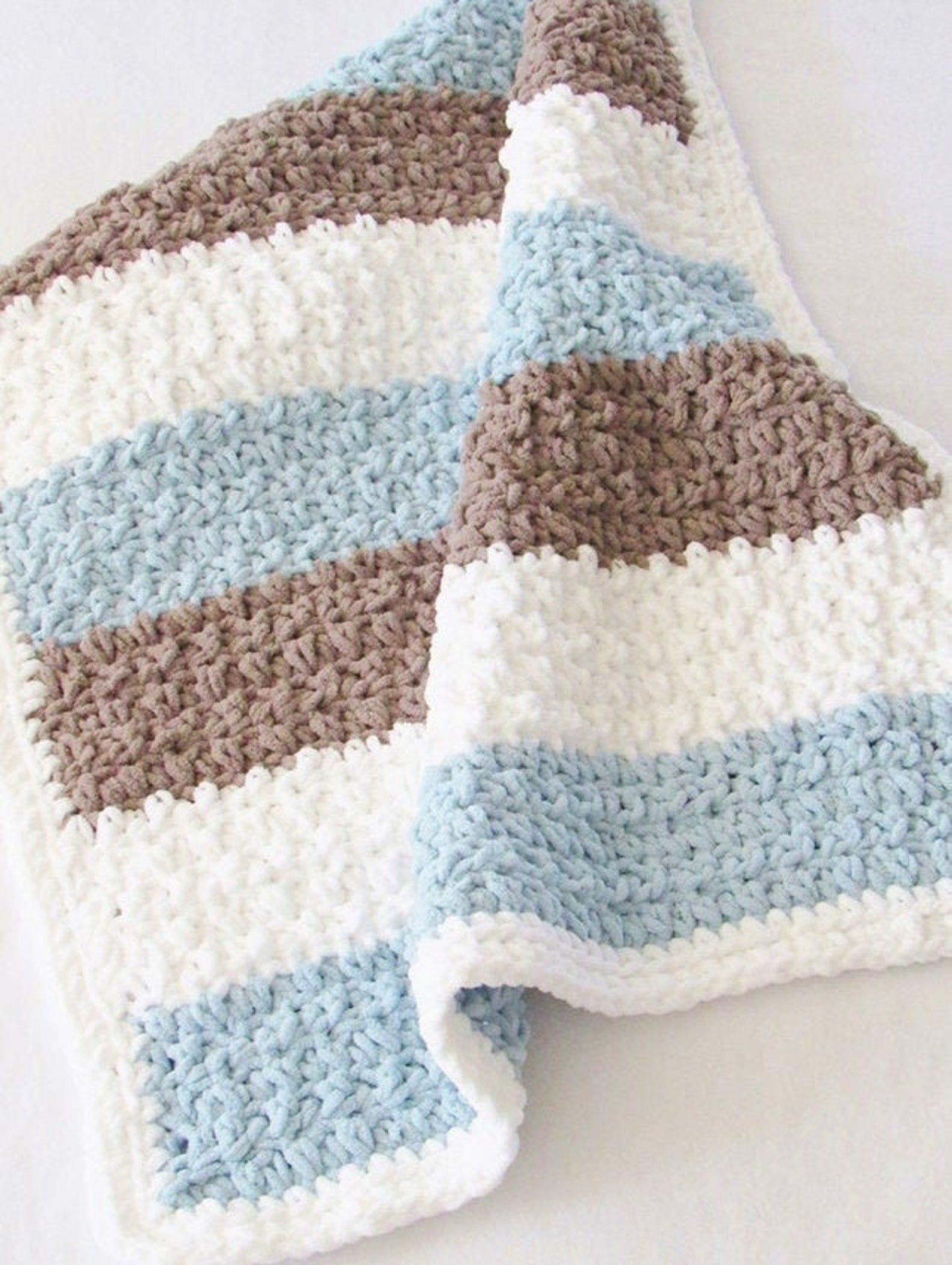 4 Hour Crochet Blanket Pattern Crochet Afghan Crochet Baby Blanket Easy Crochet Baby Blanket Crochet Baby Blanket Free Pattern Baby Boy Crochet Blanket