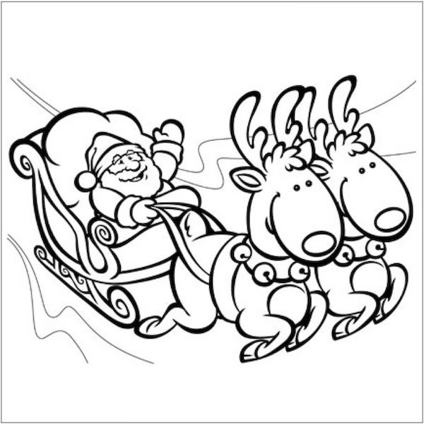 Christmas coloring pages kids colouringcoloring