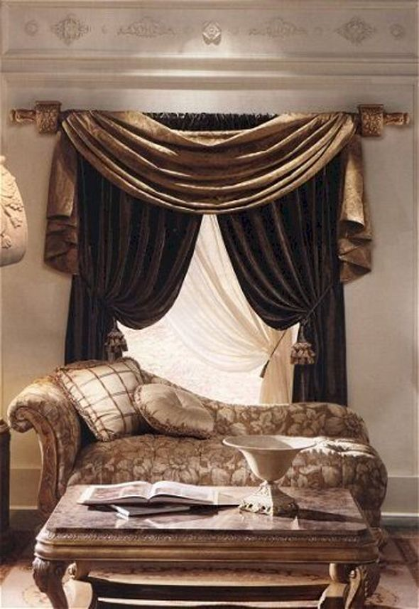 Love These Curtains And The Chaise Rumah Desain Rumah Minimalis
