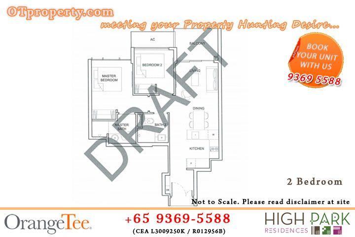 High Park Residences Floor Plan Ot Property Floor Plans How To Plan Residences