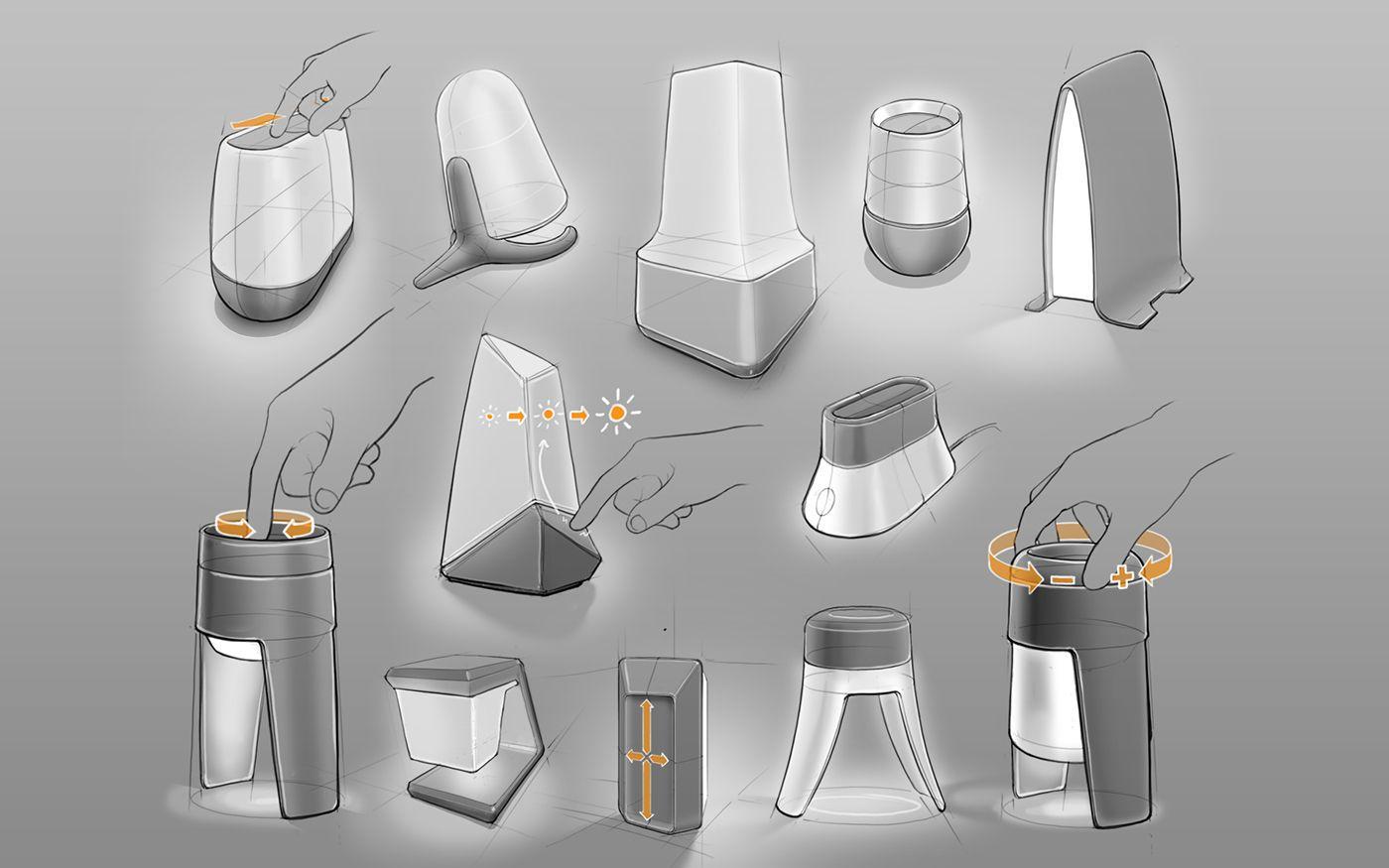 Lamp On Behance Design Sketch Industrial Design Sketch Sketch Design