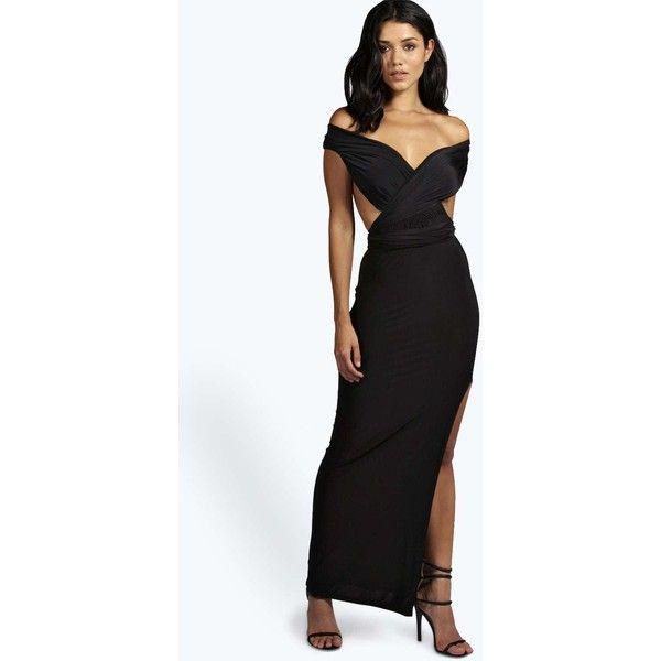 Black tulip dress boohoo