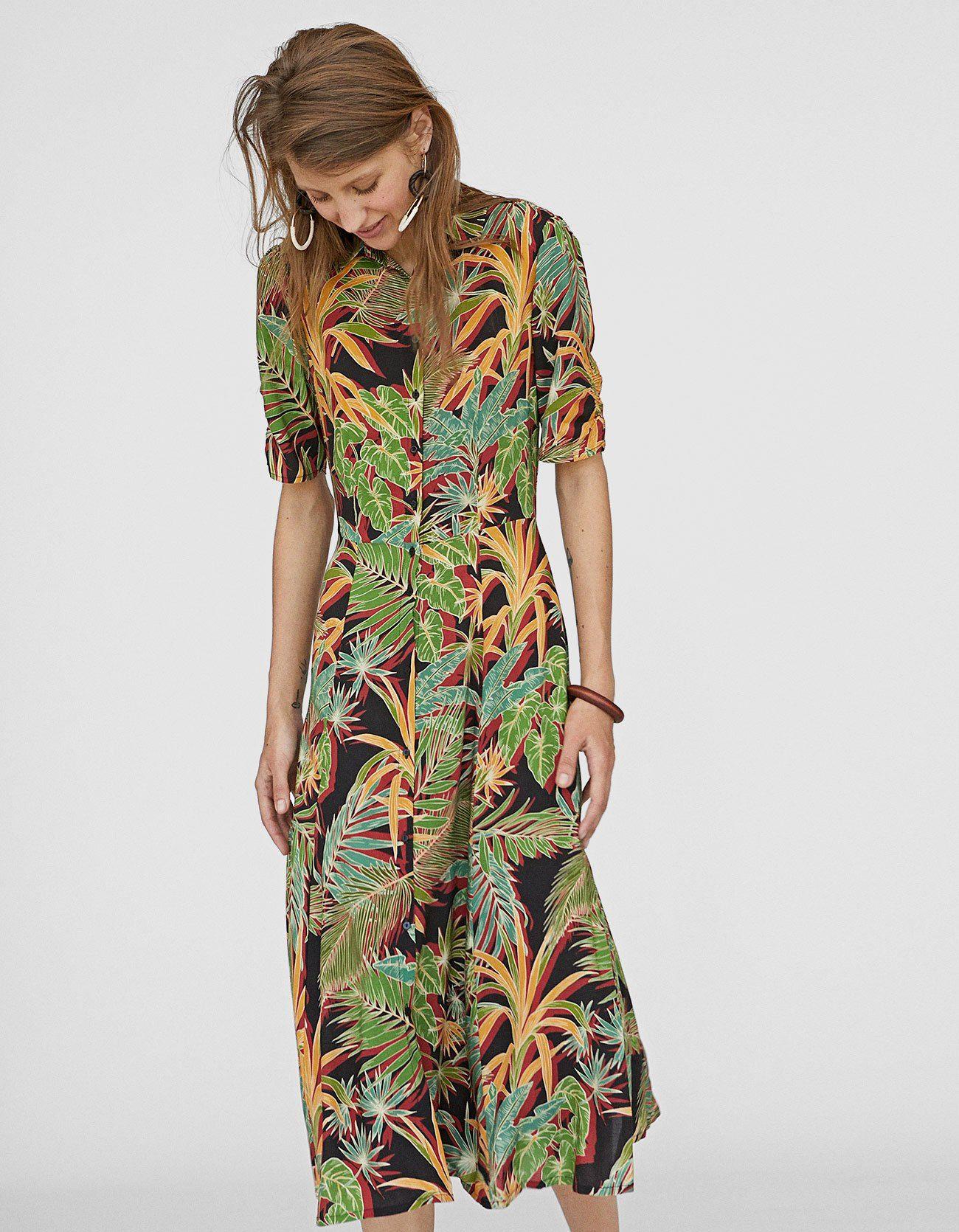 a4dea36b13e1 Tropical print shirt dress - Just In
