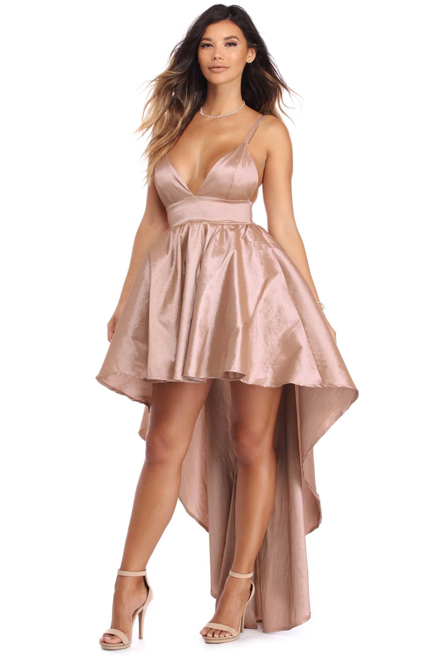 9ac143b5eee Lizbeth Taupe Classic Twist Formal Dress