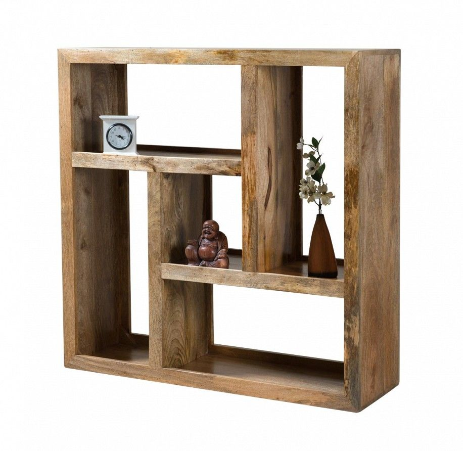 Dakota Light Mango Low Open Bookcase Shelving Unit 1