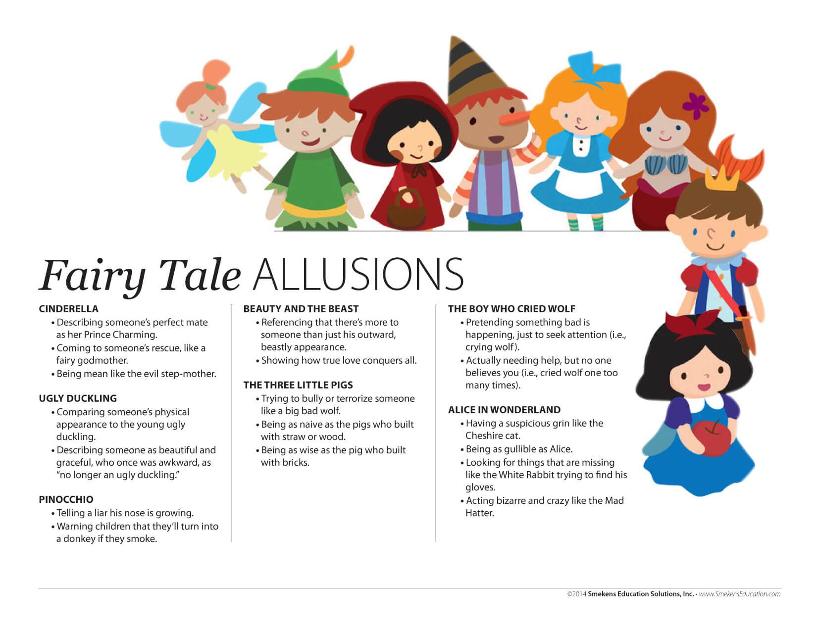 Readers Need Background Knowledge To Infer Author Allusions Allusion Fairy Tales True Love [ 1275 x 1650 Pixel ]