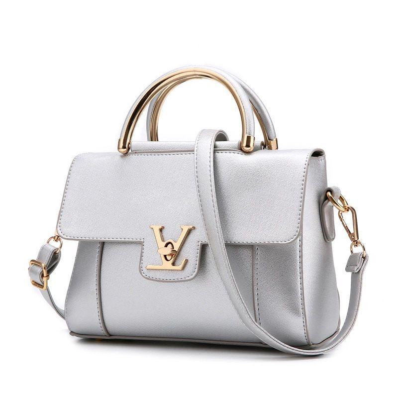 d1e454a1f0 Hot fashion design hasp locks with V letter handbag flap bag 10 colors  elegant lady women s