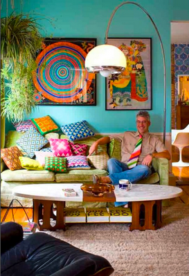 Funky Lounge Room With Colourful Cushions Nice Colorida