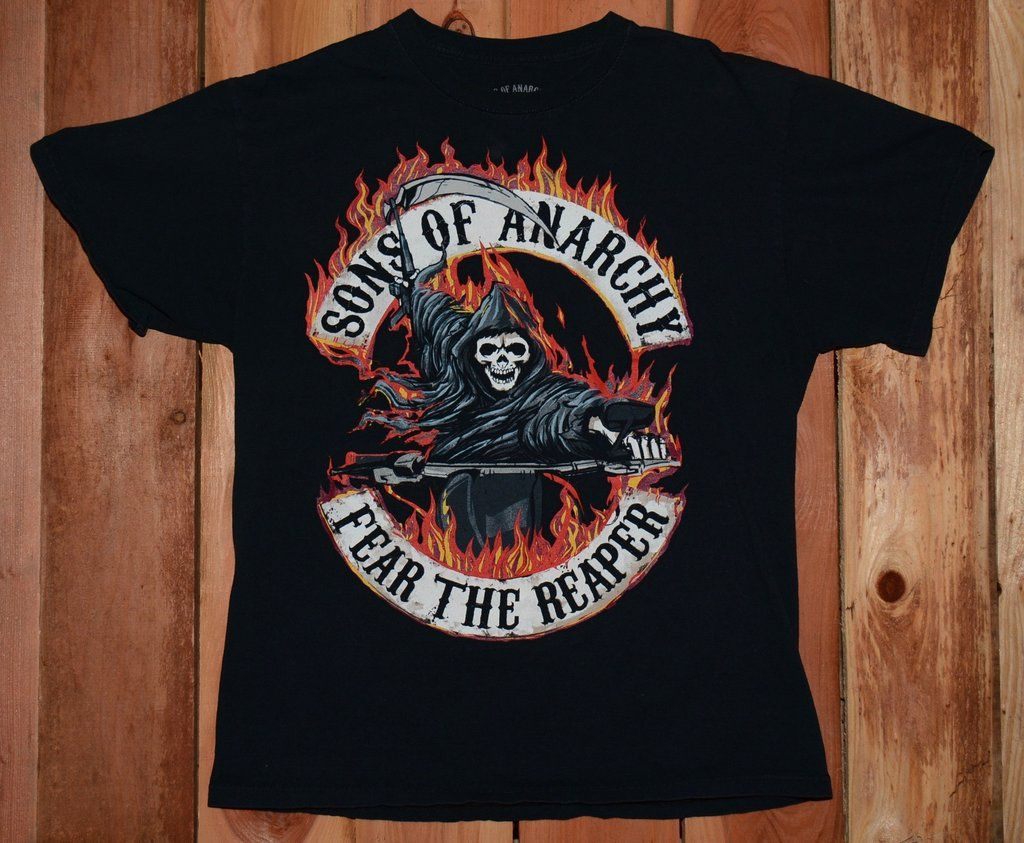 Sons Of Anarchy Fear The Reaper Graphic Tee Shirt Men S Size Large Graphicteeshirt Sonsofanarchy Fearthereape Mens Tee Shirts Graphic Tee Shirts Mens Tees
