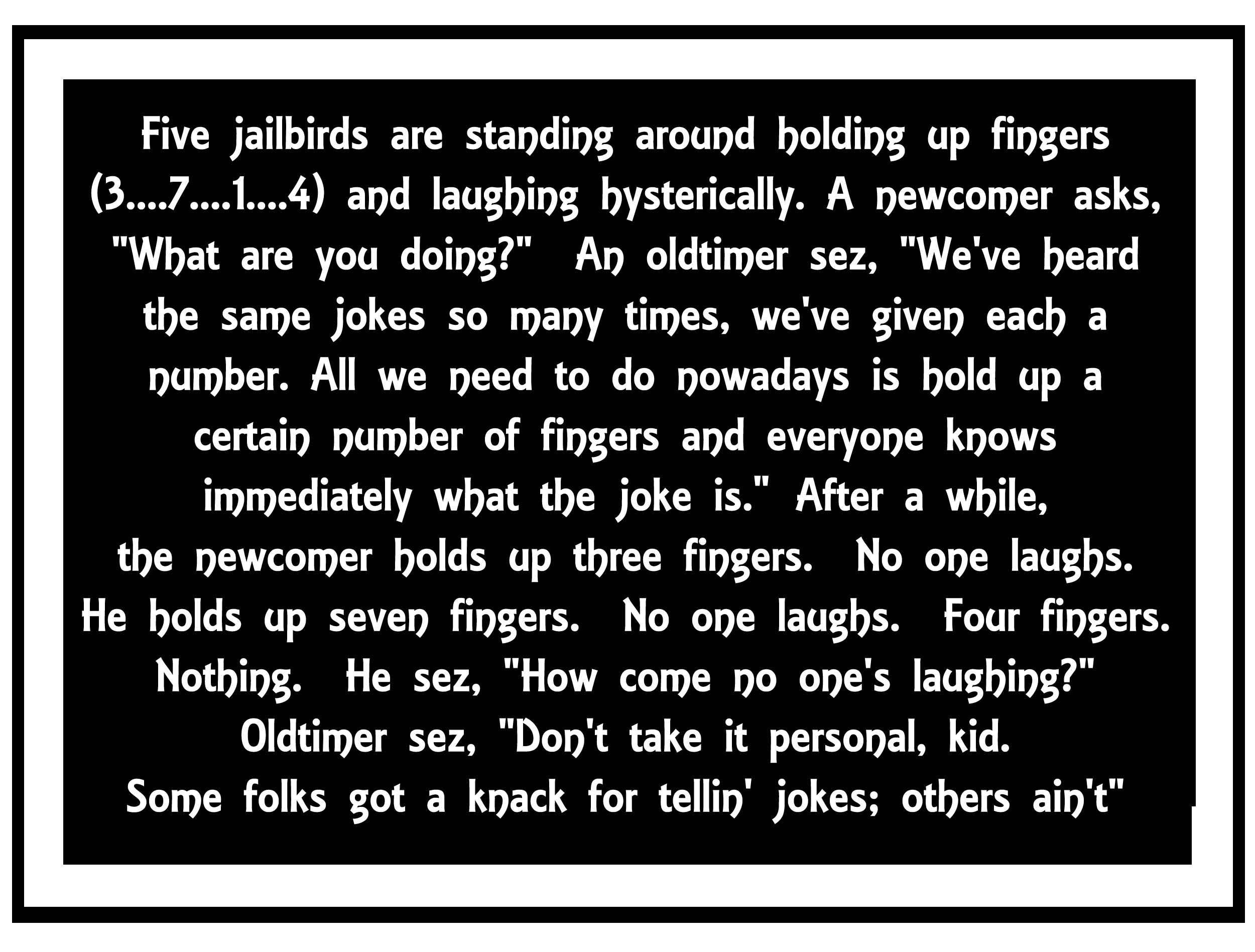 A handful of short jokes