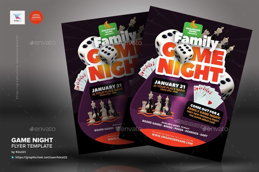 Template Ideas Game Night Flyer Templates Download Free