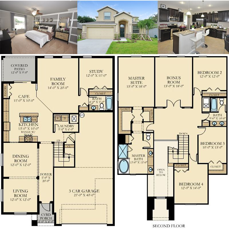 The Monte Carlo floorplan features 5 bedrooms 3 baths and a