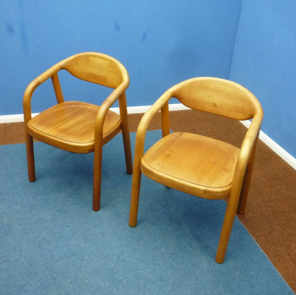 For Sale Pair Of Danish Teak Armchairs From Korup Stolefabrik 1970s