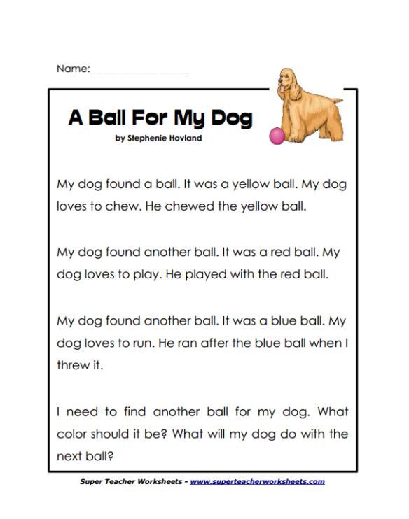 Super Teacher Worksheets Review Reading Comprehension