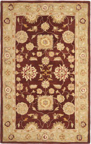 Safavieh Anatolia Collection AN556F Handmade Red and Sage Hand-Spun Wool Area Rug, 5 Feet by 8 Feet by Safavieh, http://www.amazon.com/dp/B00762VLNU/ref=cm_sw_r_pi_dp_sXmgrb1HV8KRP