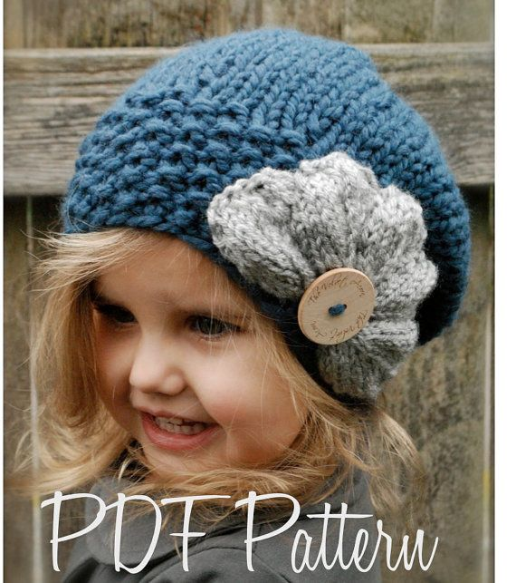 Knitting PATTERN-The Ruby Slouchy (Toddler, Child, Adult sizes ...