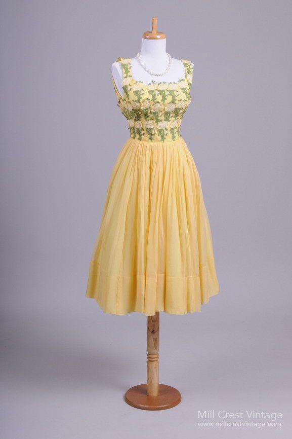 Vintage Yellow Prom Dresses