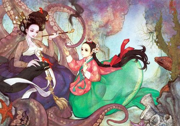 Illustration Korean Princess
