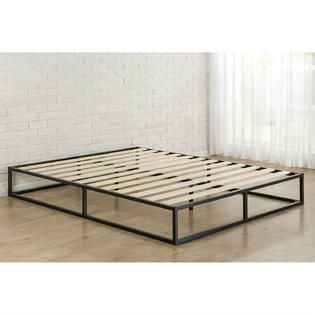 greenhome123 10 inch low profile metal platform bed frame with wood slats 3 - Metal Platform Bed Frame