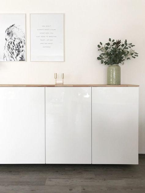 ikea hack metod k chenschrank als sideboard upcycling wohnzimmer wohnzimmer sideboard und. Black Bedroom Furniture Sets. Home Design Ideas