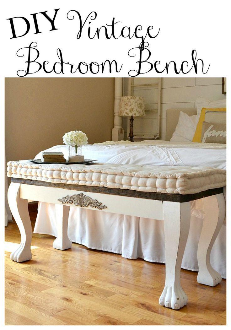 DIY Clawfoot Bench DIY Vintage Bedroom Bench.