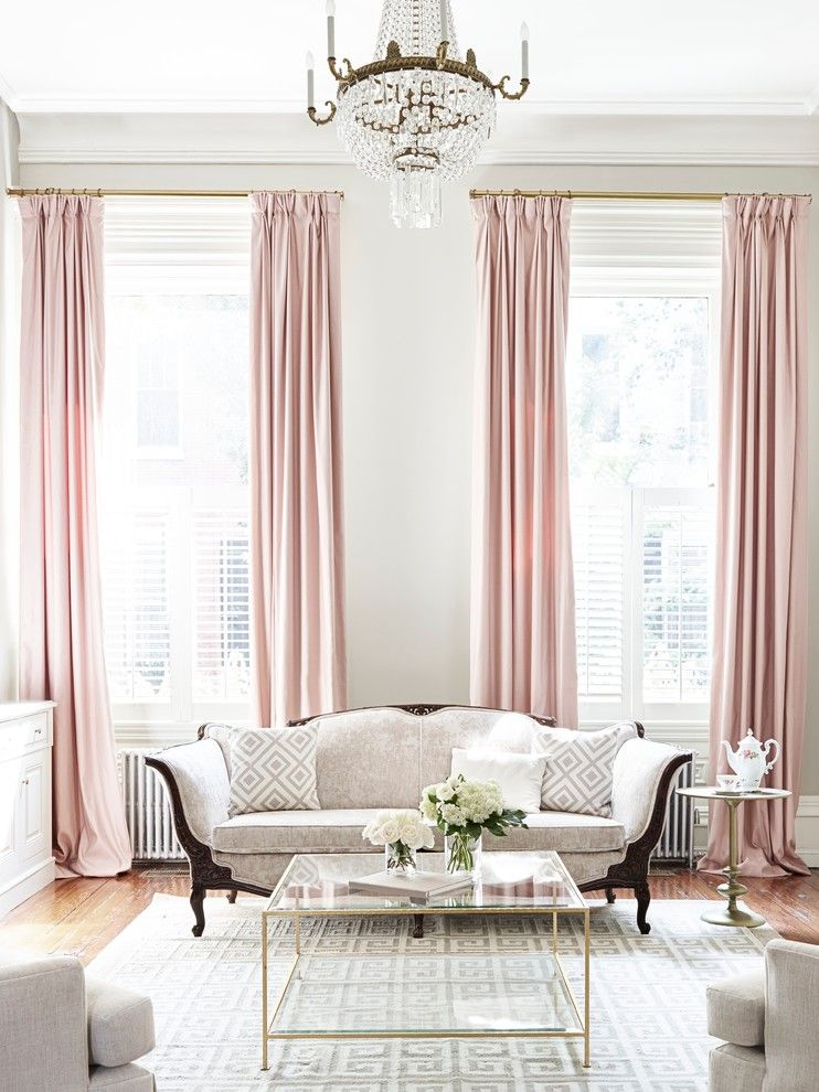 Soft Pink Sateen On Long Curtain Of Kinds Of Beautiful Curtains To