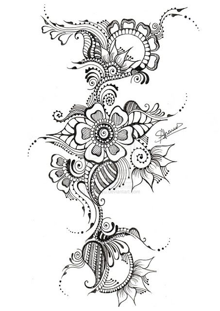 Mod le tatouage fleur maori 328213 art pinterest - Modele dessin fleur ...